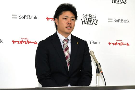 ホークス松本、現状維持の1200万円でサイン「野球やる時間が少なかった」