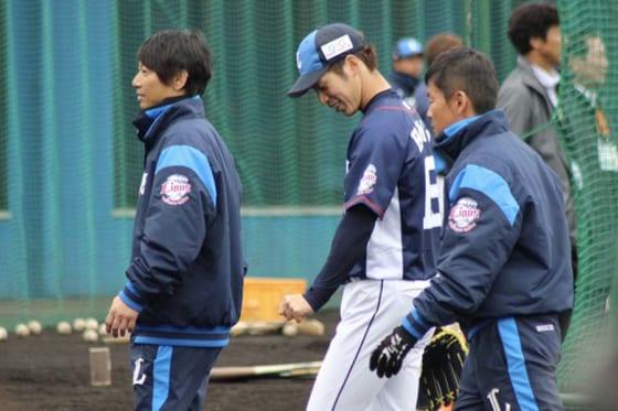 埼玉西武齊藤大、フリー打撃で左腕に打球直撃しヒヤリ 病院に行く予定はなし