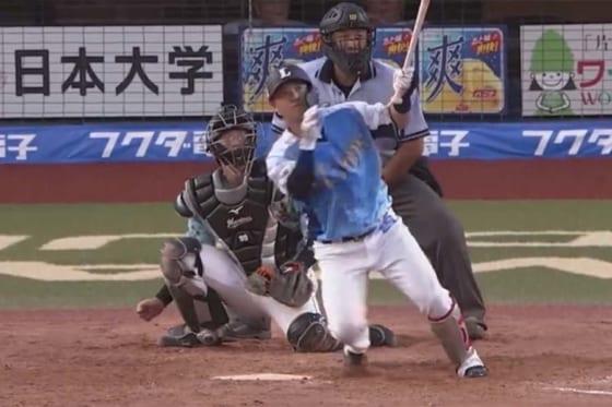 埼玉西武ドラ7佐藤がプロ1号 「本当に嬉しいです!監督、コーチに感謝します」