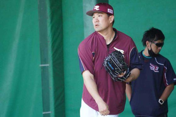 田中将大、ブルペン24球で春季キャンプ締め「真っすぐだけ、軽くですけど」