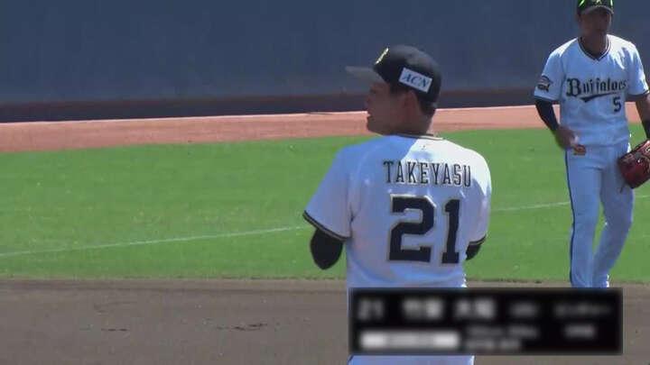 【ファーム】竹安大知が4回0封の好投。西野真弘は3安打を放ち打率.414に