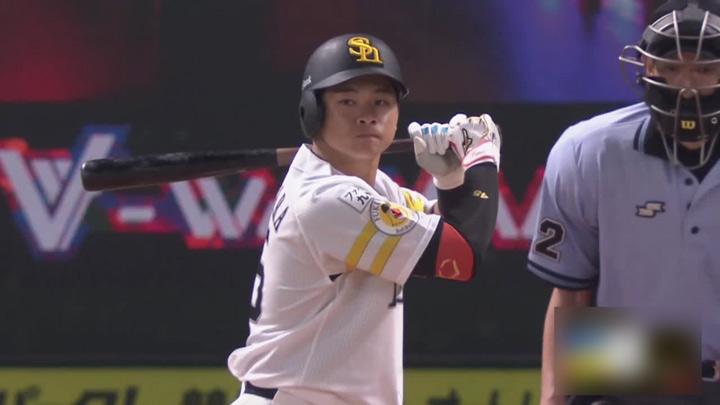 谷川原健太が値千金の同点弾! 押し出しで福岡ソフトバンクがサヨナラ勝利