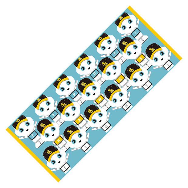 「Pepperフェイスタオル」(1500円)(C)SoftBank HAWKS