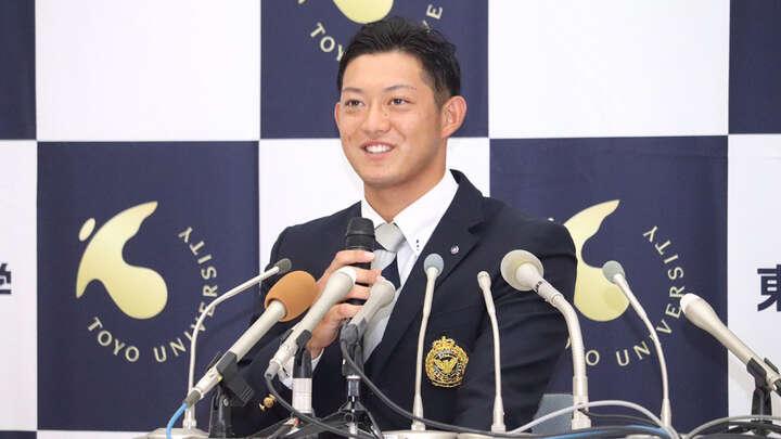 千葉ロッテにドラフト2位で指名を受けた東洋大の佐藤都志也選手