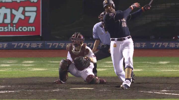 終盤にジョーンズが同点打。弓削隼人と山崎福也の先発で始まった試合は投手戦の末引き分けに