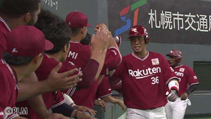 広い札幌ドームの逆方向に突き刺す、このパワー!