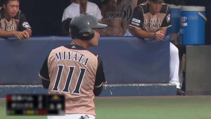 【ファーム】宮田輝星が勝ち越し打。北海道日本ハムが9回2死から逆転勝利