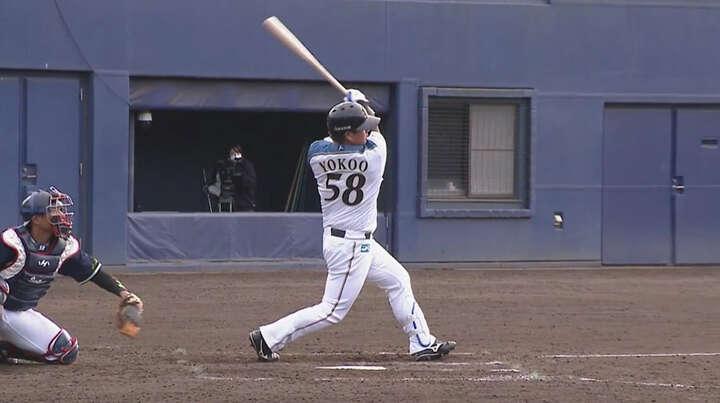 【ファーム】9回2死から横尾俊建が同点打。谷口雄也は3安打、宮田輝星は2安打2盗塁