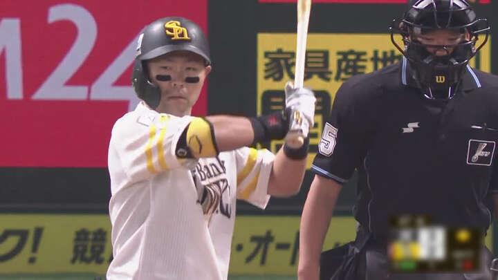 中村晃が2打席連続2ラン。福岡ソフトバンクが4年連続日本シリーズ進出決定