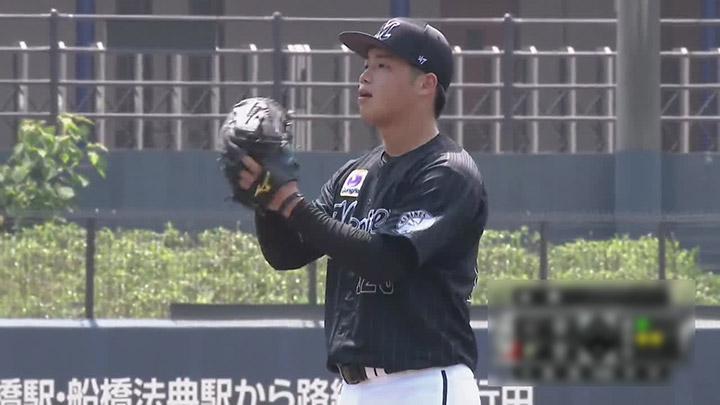 千葉ロッテマリーンズ・森遼太朗投手(C)パーソル パ・リーグTV