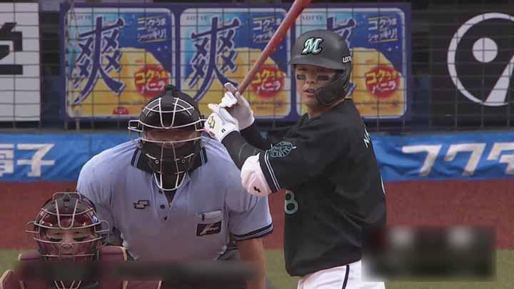 中村奨吾が逆転2ラン&岡大海が3号ソロ! 8回に2本塁打の千葉ロッテが楽天に逆転勝利
