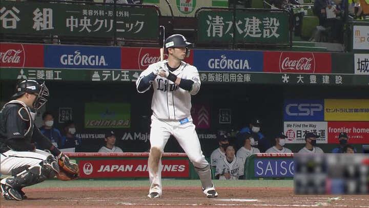 外崎修汰が本塁打含む猛打賞の活躍! 埼玉西武が4連勝で2位との差は「3」に