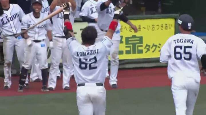 【ファーム】駒月仁人がサヨナラ犠飛。8得点を挙げた埼玉西武が楽天との延長戦を制す