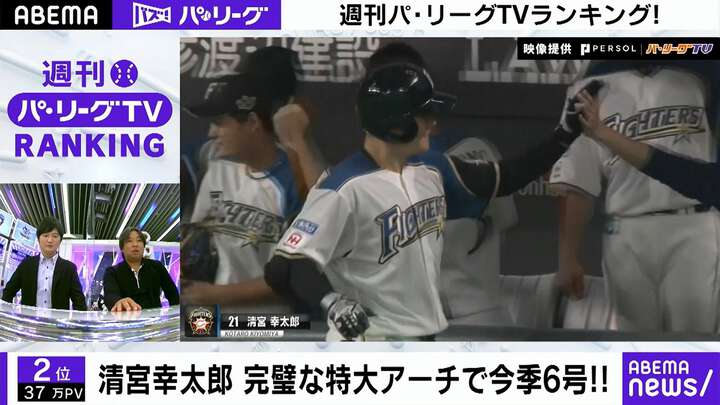 清宮幸太郎の会心の一撃に注目!「ABEMA バズ!パ・リーグ」でランキングをチェック!