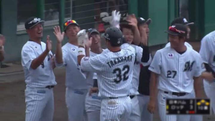 【ファーム】高濱卓也がサヨナラ打。8投手の継投でつないだ千葉ロッテが勝利