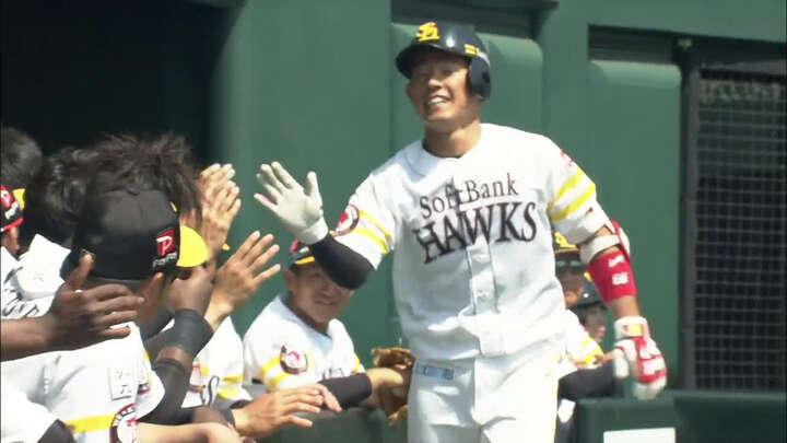 【ファーム】増田珠がプロ初本塁打。中田賢一も好投を見せ、鷹が広島に勝利