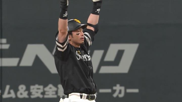 松田宣浩が勝ち越し打! 栗原陵矢も5試合連続安打を放った鷹が2連勝
