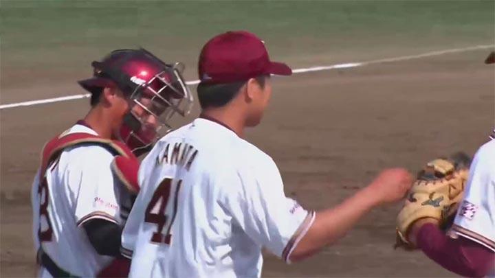 【ファーム】釜田佳直が1失点完投勝利! 好調の山崎真彰は2安打2打点
