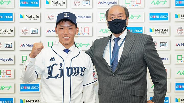 埼玉西武、育成選手の水上由伸との支配下契約を発表 背番号は「69」に決定