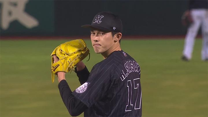 佐々木朗投手が5回無失点で2勝目! 荻野貴司の先頭打者本塁打など千葉ロッテが快勝