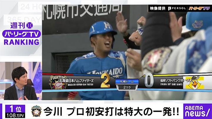 今川優馬がプロ初安打・初本塁打!「ABEMA バズ!パ・リーグ」でランキングをチェック!2021 #21