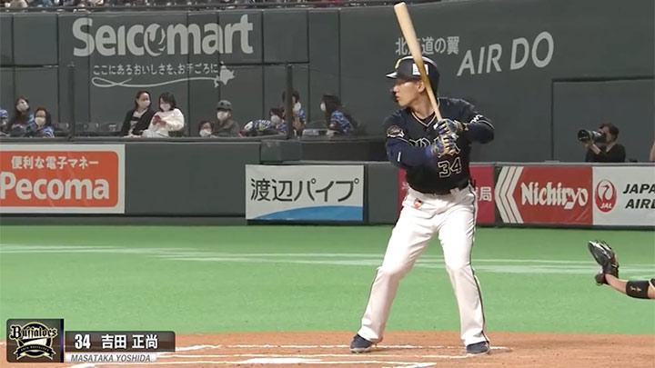 オリックス・バファローズ・吉田正尚選手(C)パーソル パ・リーグTV