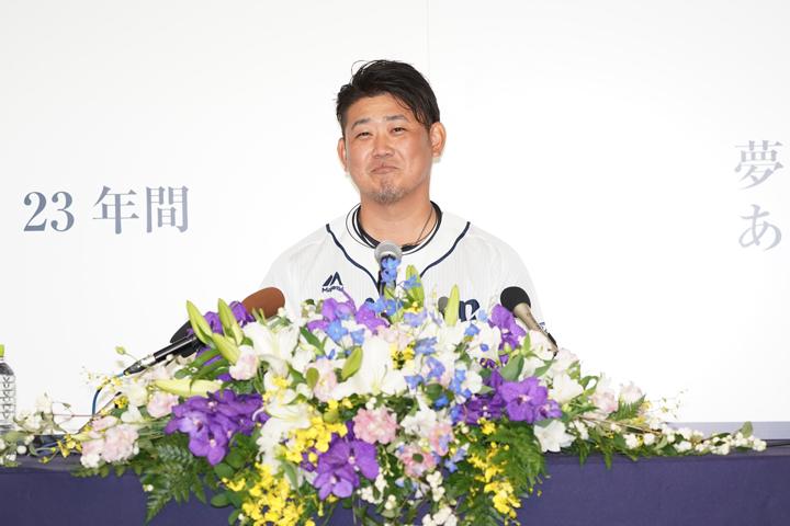 平成の怪物・松坂大輔引退会見、一問一答。「いつ気持ちが切れてもおかしくなかった」