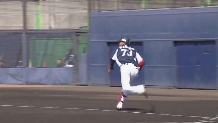 【ファーム】ドラ8ルーキー・岸潤一郎が3安打1盗塁! 若獅子が打撃戦を制す