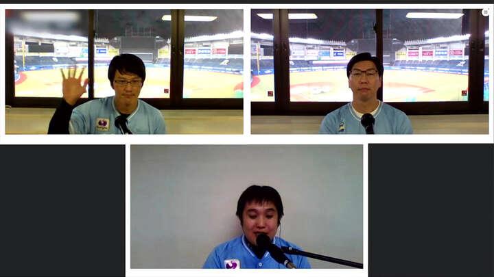 上野大樹さん(左上)古谷拓哉さん(右上)MCまさなりさん(中央)(C)PLM